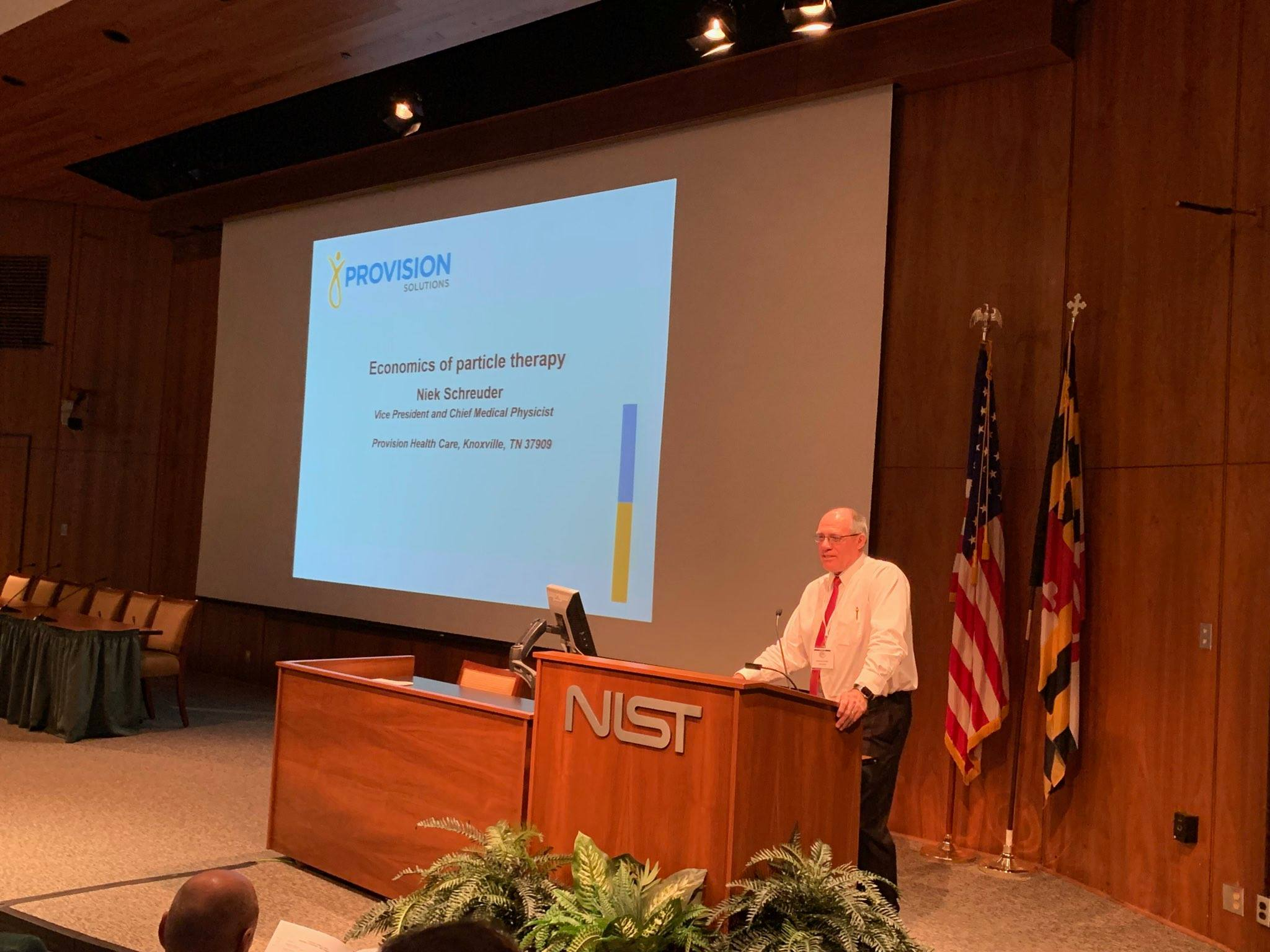 Niek Schreuder, Chief Medical Physicist at Provision, speaks at the 2019 CIRMS Annual Meeting.
