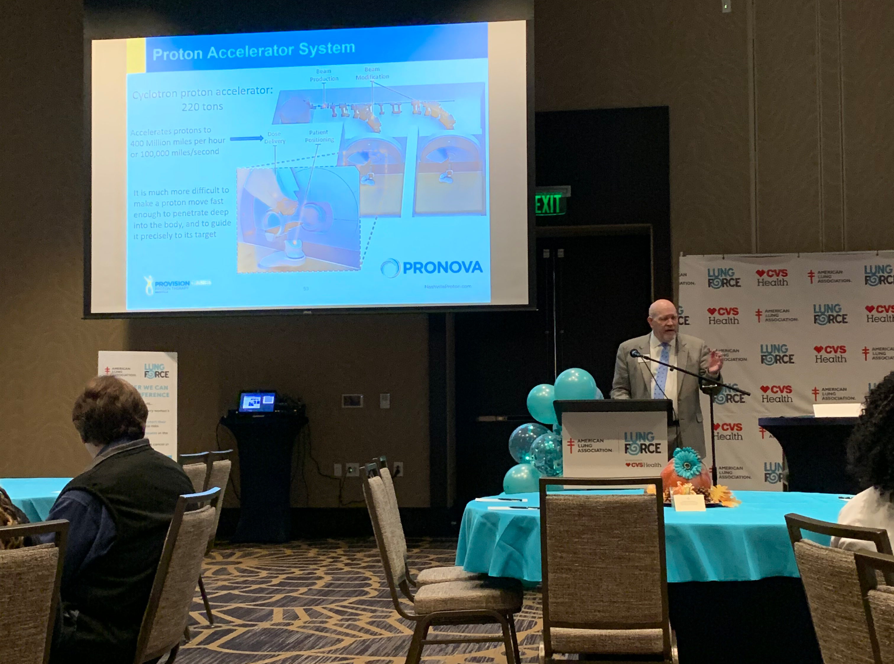Dr. Gray speaks at the 2019 Lung Force Expo in Nashville