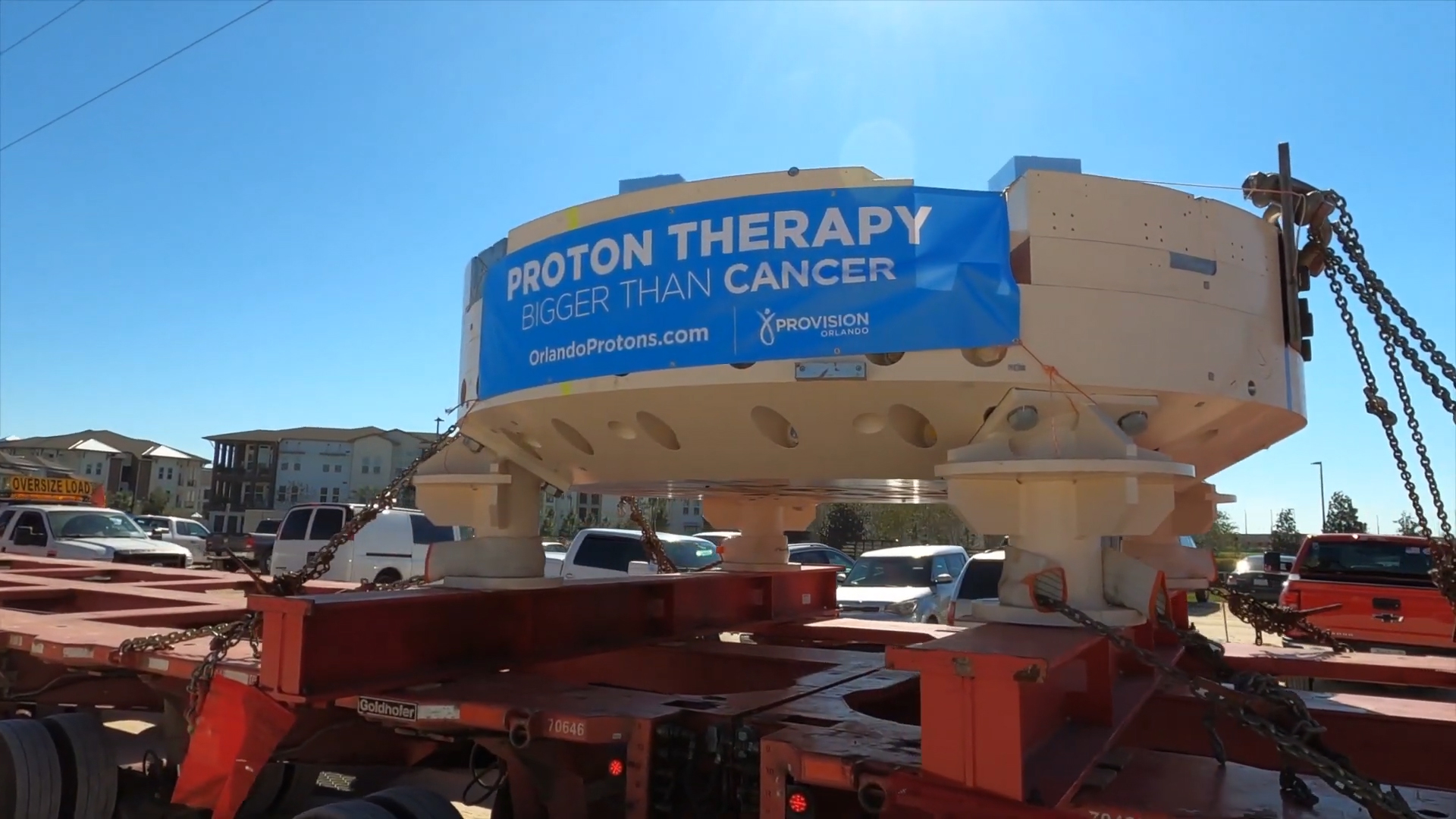 The cyclotron arrives at Provision CARES Proton Therapy Orlando