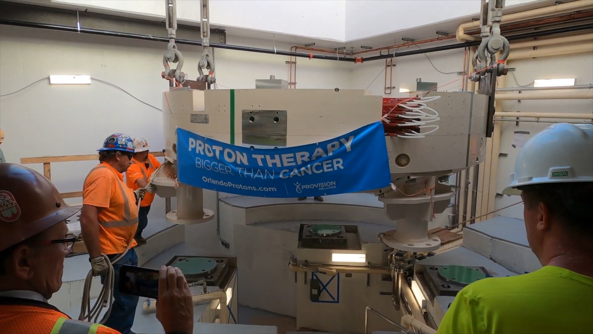 The cyclotron is installed at Provision CARES Proton Therapy Orlando