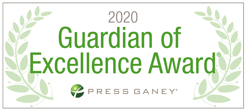 Provision CARES Proton Therapy Nashville won the 2020 Guardian of Excellence Award for Patient Experience