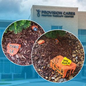 """A kind spirit left these """"rocks of gratitude"""" at Provision Nashville"""