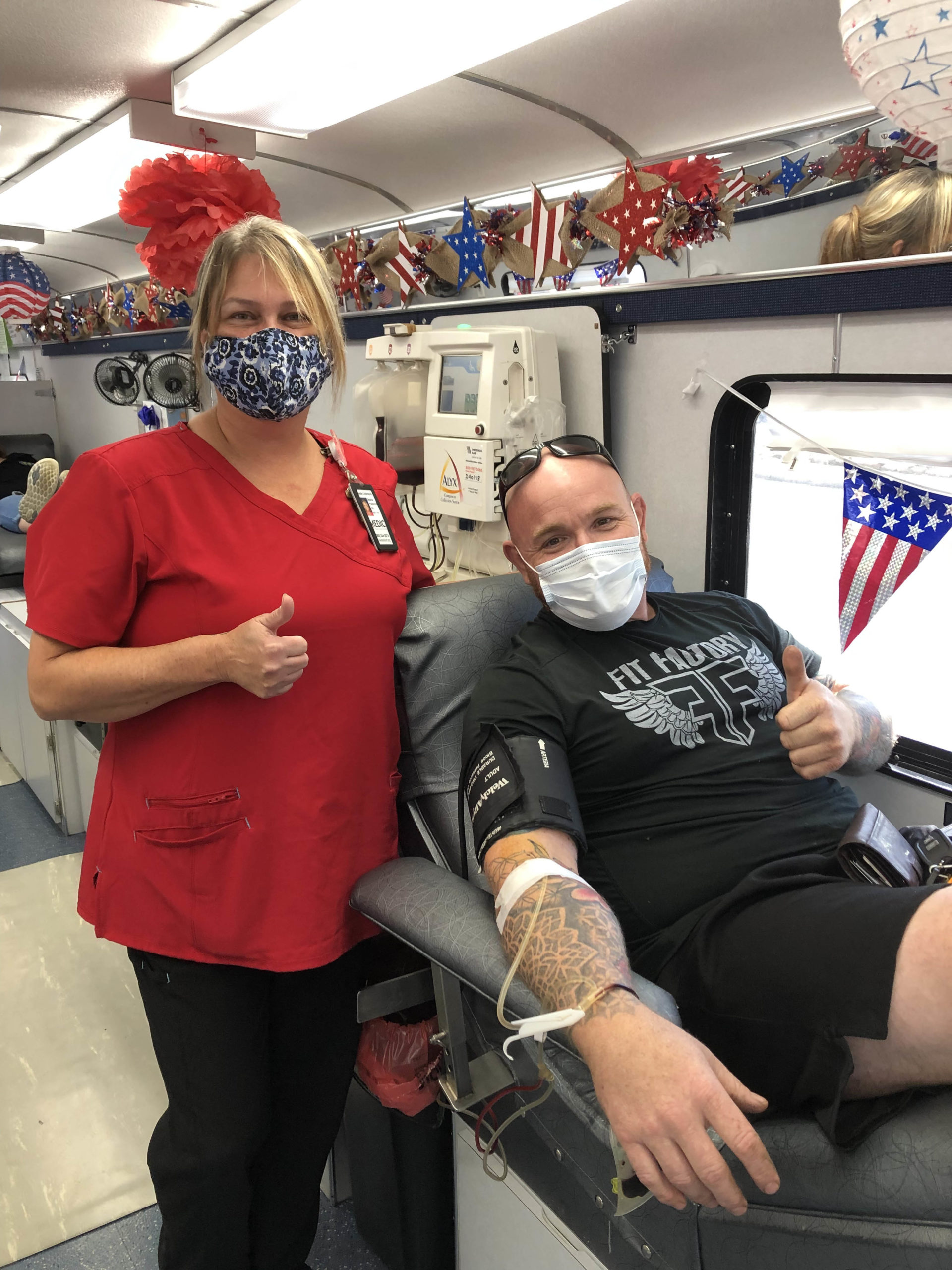 Two thumbs up for Eddie Check 2021, a free PSA testing event and blood drive